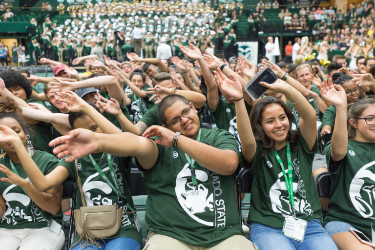 New students gather for the opening Convocation during 2017 Ram Welcome, August 17, 2017