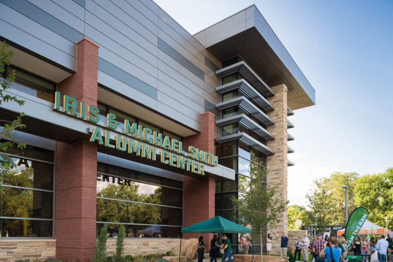 Colorado State University celebrates the completion of the Iris and Michael Smith Alumni Center in the new on-campus stadium with an open house the evening before the inaugural game, August 25, 2017.